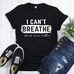 I Can't Breathe Tee Black Final Price